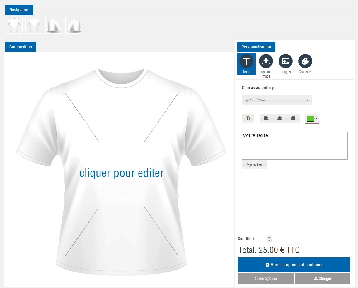CV2D HTML5 Configurator