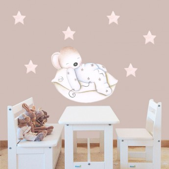 Sticker ourson chambre enfant