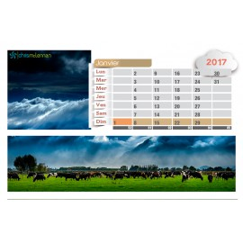 Calendrier chevalet personnalisable