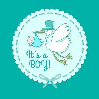 Faire-part de naissance garçon personnalisé